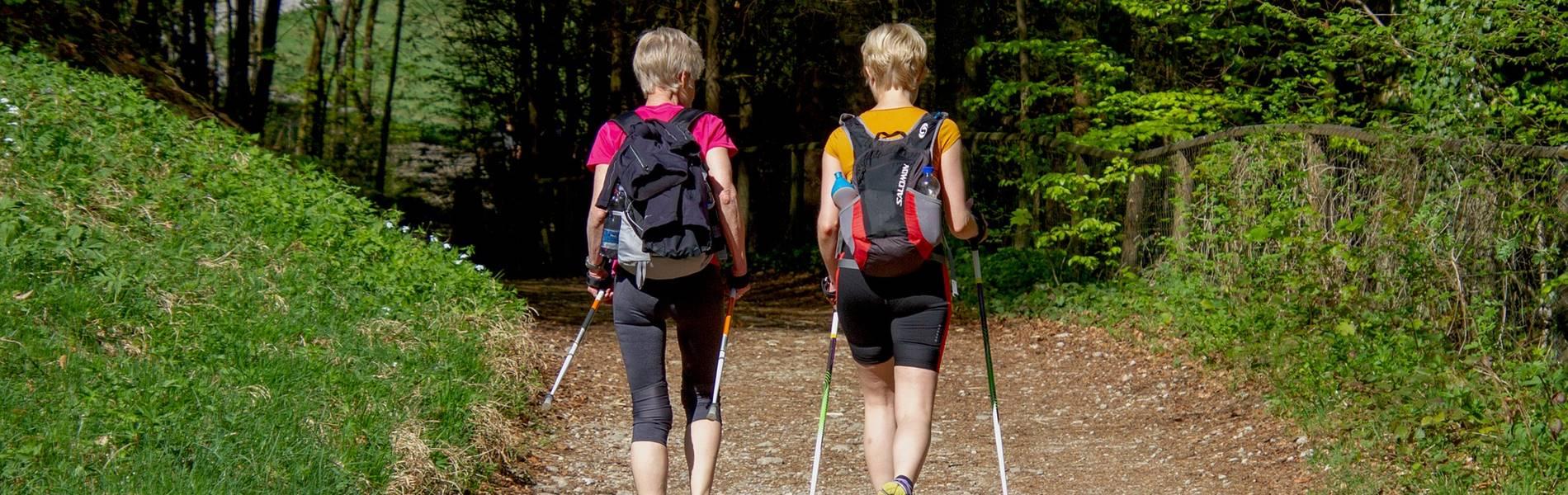 Wandern und Nordicwalking