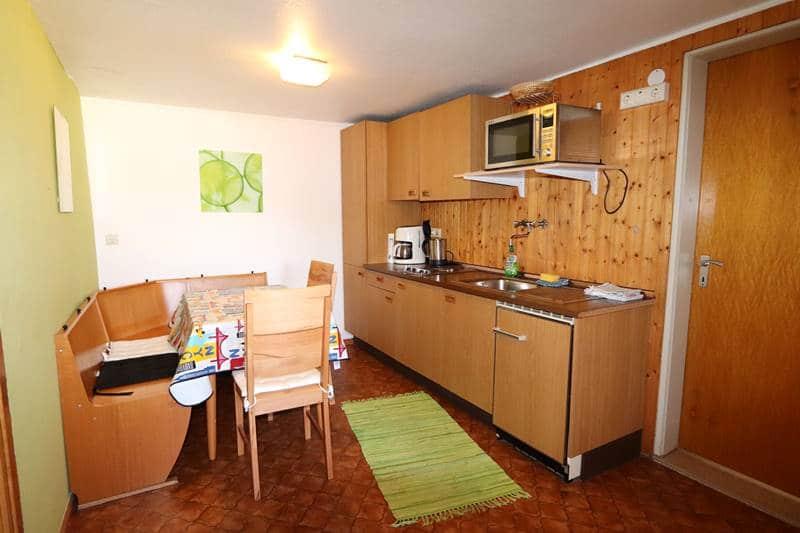 Küche Ferienwohnung Adambauernhof