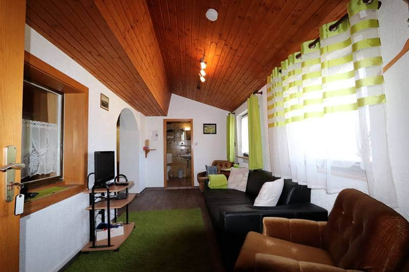 Wohnzimmer Ferienwohnung Adambauernhof