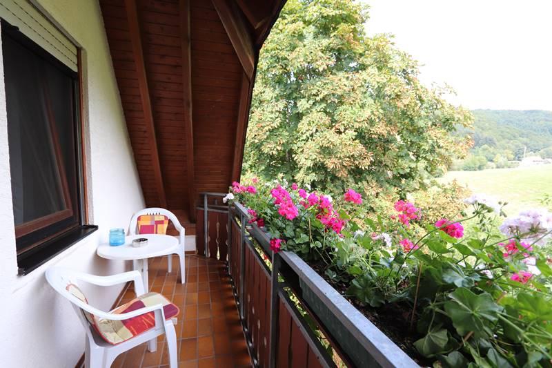 Balkon Ferienwohnung Bachstelze Pension Schneider