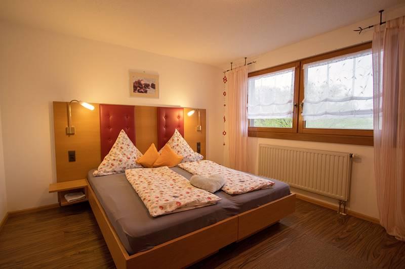 Zweites Doppelzimmer in der Ferienwohnung Kandelblick
